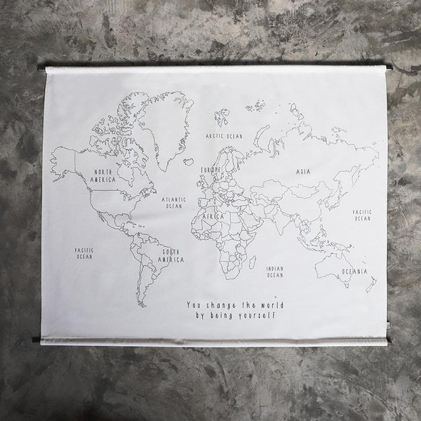 "Do-it-yourself-Set Wandposter ""World Map"""