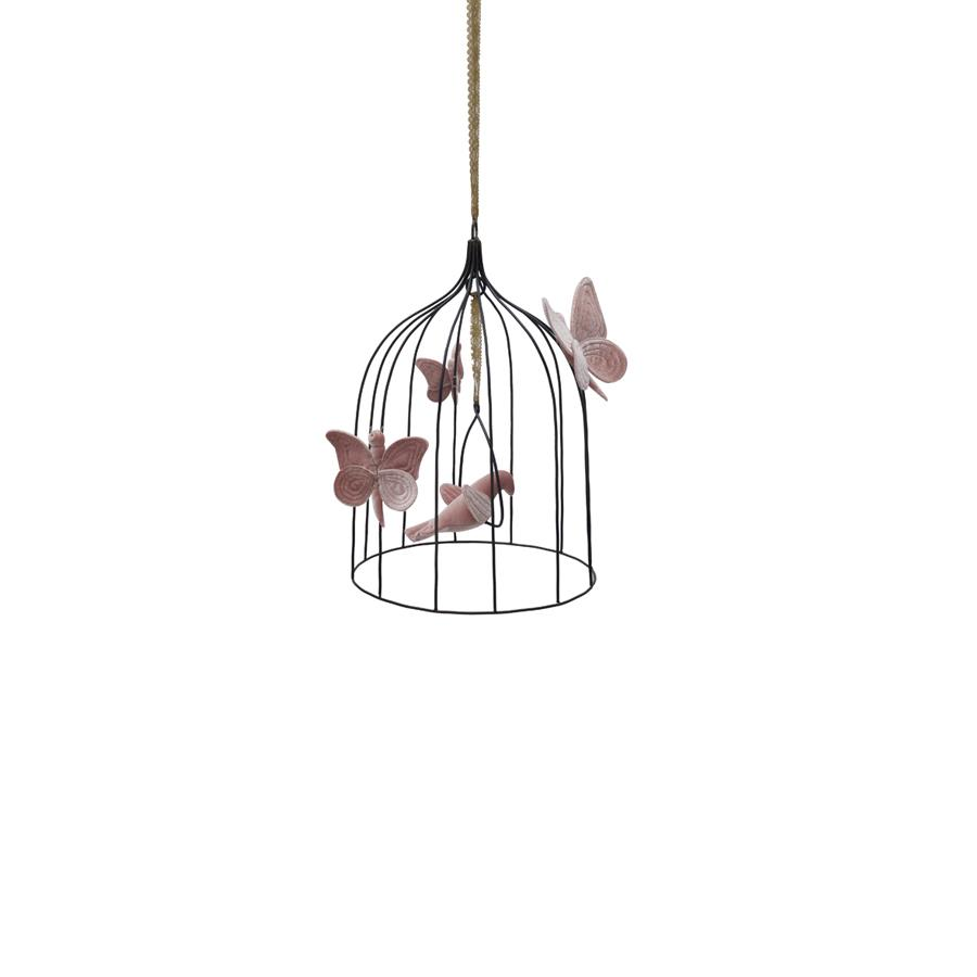 "Mobile ""Bohemian Bird Cage Dusty Pink"" medium"