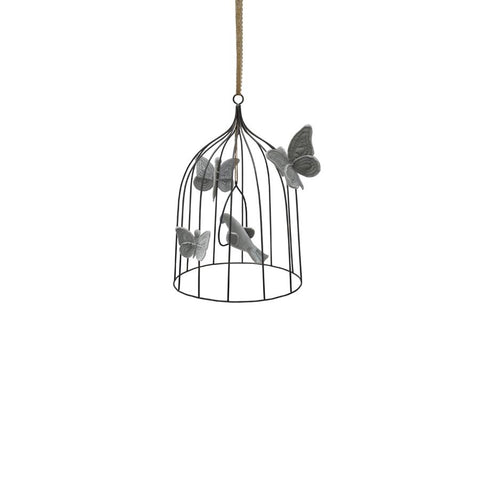 "Mobile ""Bohemian Bird Cage Silver Grey"" medium"