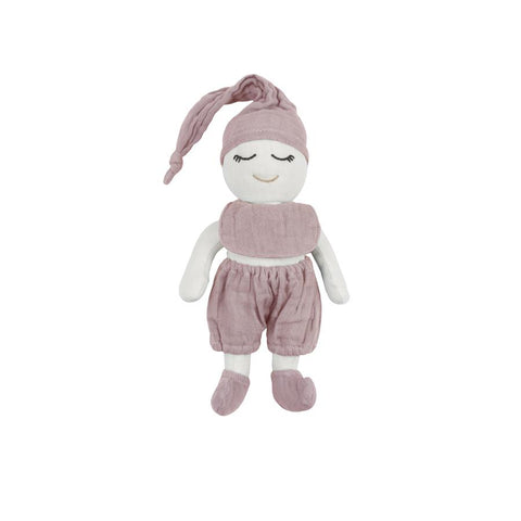 "Stoffpuppe ""Rose Baby Doll Dusty Pink"""