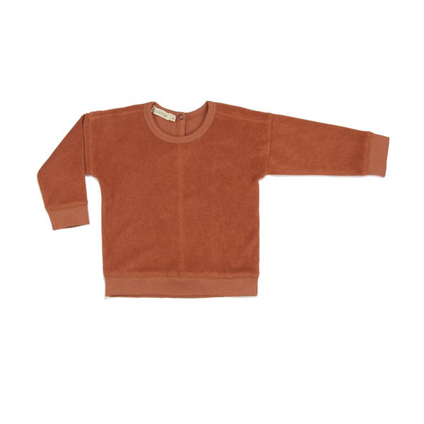 "Frottee-Pullover ""Burnt Clay"""