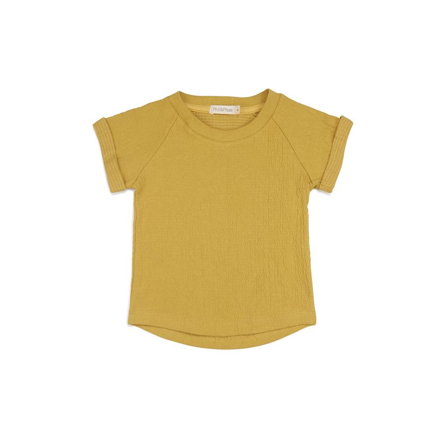 "Kurzarm-Shirt ""Dusty Yellow"""