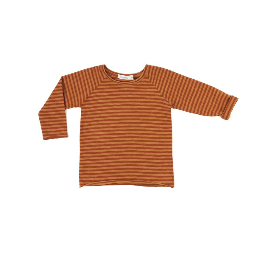 "Langarm-Shirt ""Raw Edged Stripe Golden Spice"""