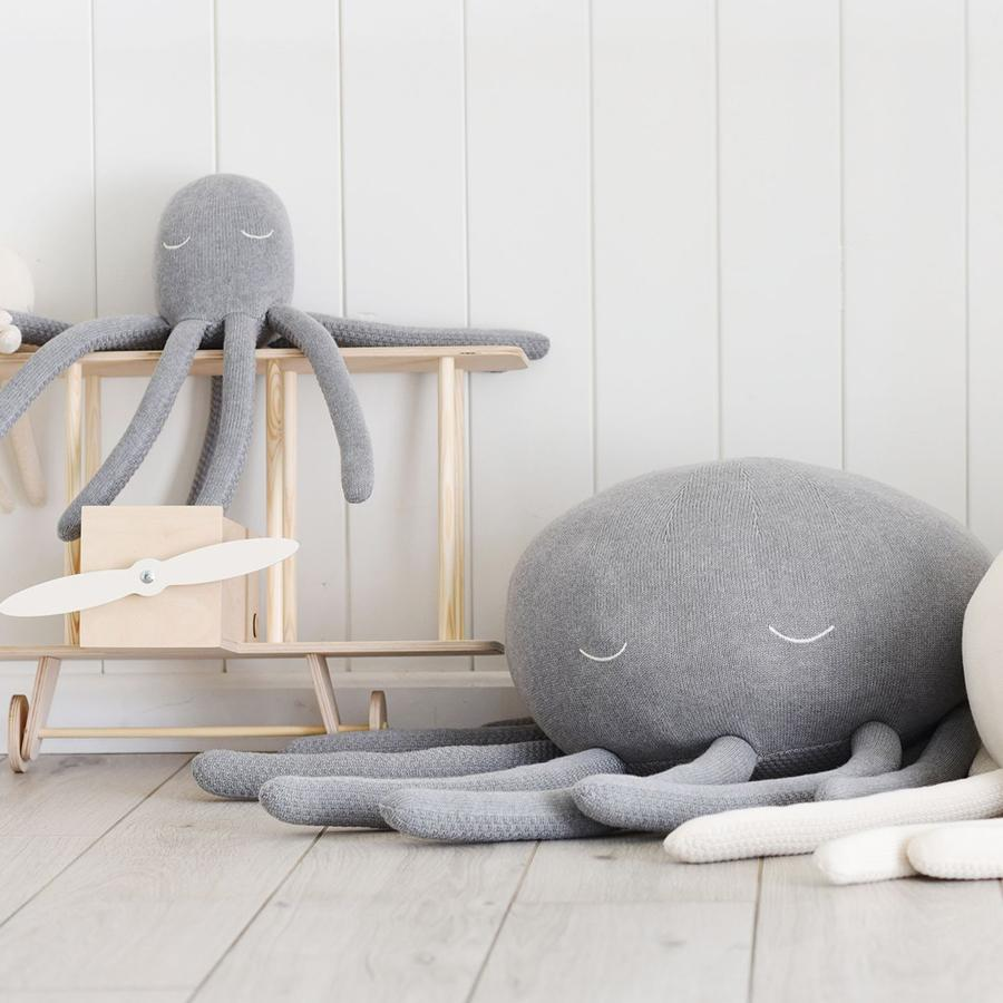 "Kuscheltier ""Octopus Grey Melange"" medium"