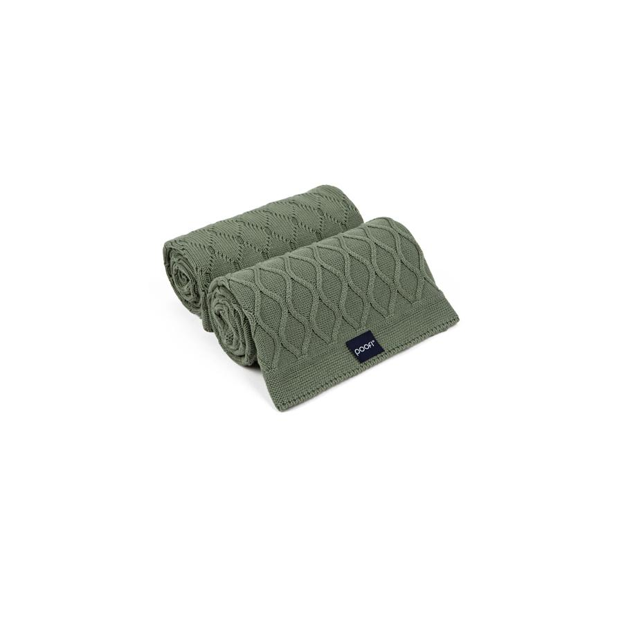 "Strickdecke ""Double Knit Olive"""