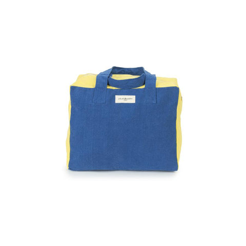 "Weekend Bag ""Celestins the 24h Bag Blue Indigo / Jaune Citrone"""