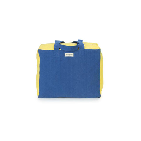 "Weekend Bag ""Elzevir Blue Indigo / Jaune Citrone"""
