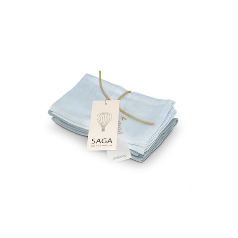 "Waschlappen ""Muslin Birta Mix Quiet Blue"" 4er Pack"