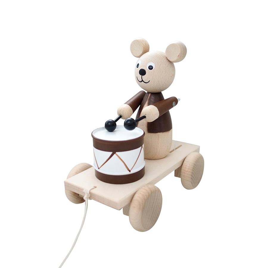 "Nachziehspielzeug ""Cuthbert Brown Bear with Drum"""