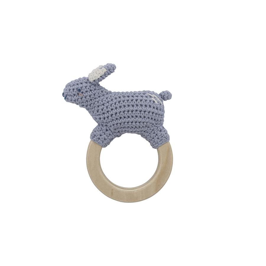 "Babyrassel ""Crochet Bluebell the Rabbit on Ring"""