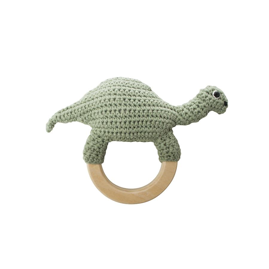 "Babyrassel ""Crochet Dino On Ring """