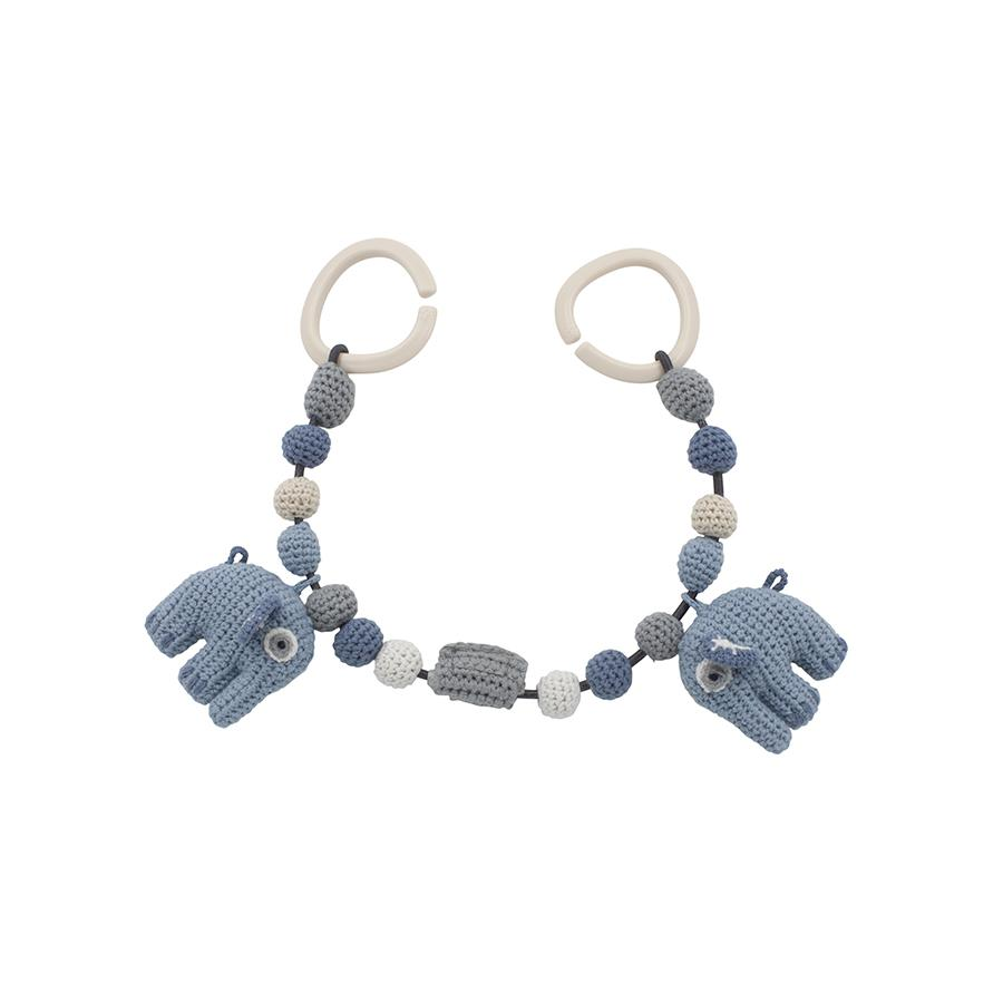 "Kinderwagenkette ""Fanto the Elephant Powder Blue"""