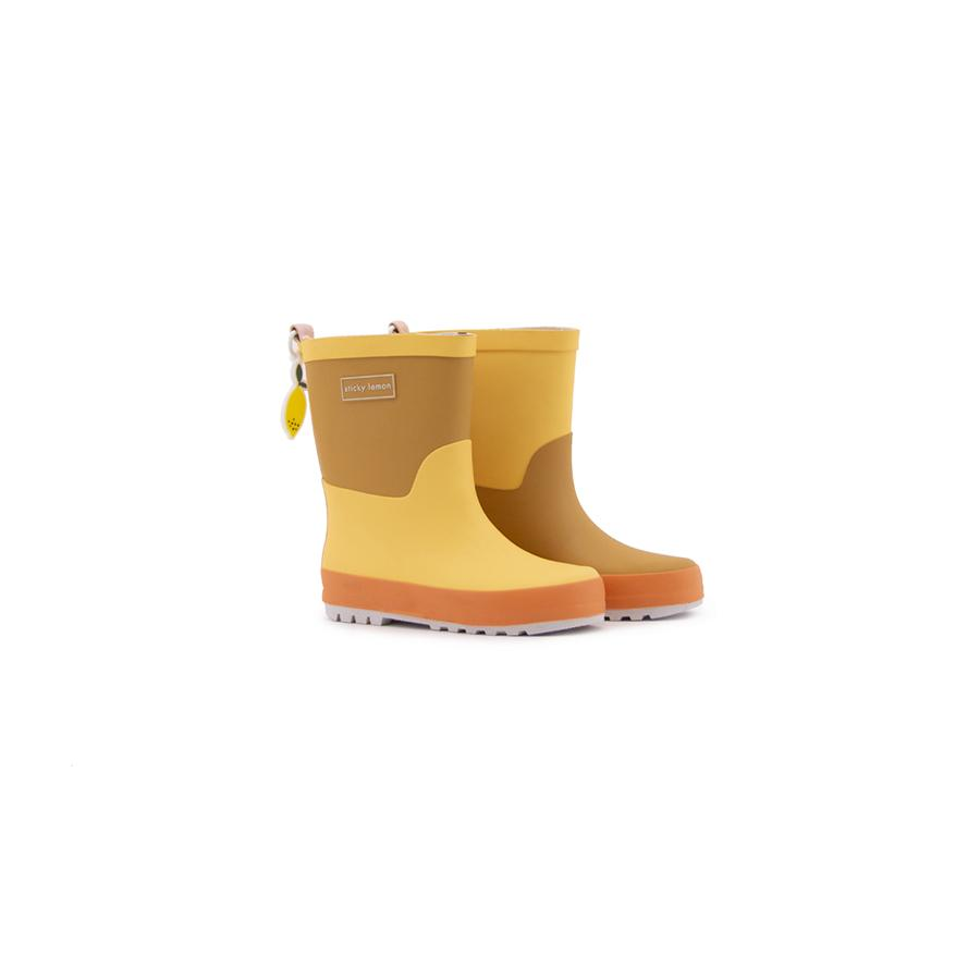 "Gummistiefel ""Retro Yellow / Caramel Fudge / Carrot Orange"""