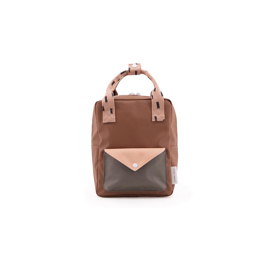 "Rucksack ""Small Backpack Sprinkles / Envelope / Cinnamon Brown / Lemonade Pink"""
