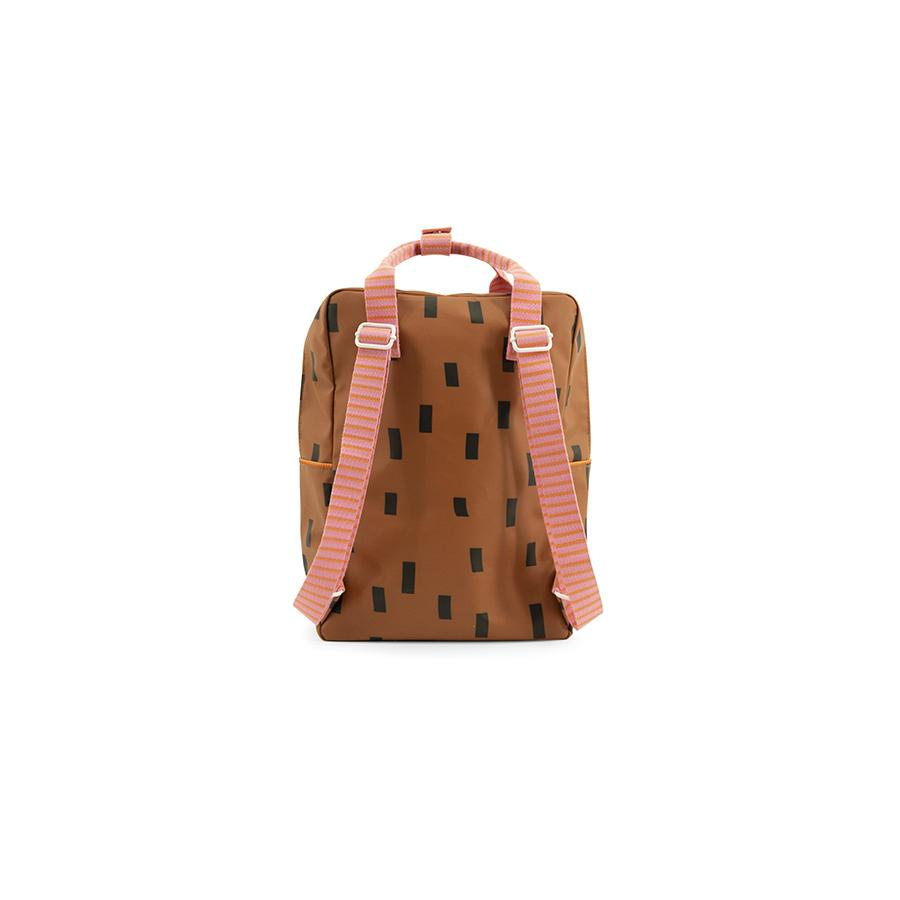 "Rucksack ""Large Backpack Sprinkles / Special Edition / Syrup Brown & Bubble Pink"""