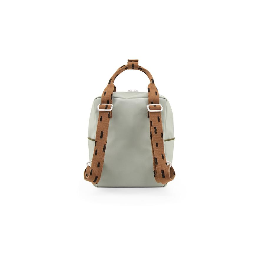 "Rucksack ""Small Backpack Sprinkles / Sage Green / Cinnamon Brown"""