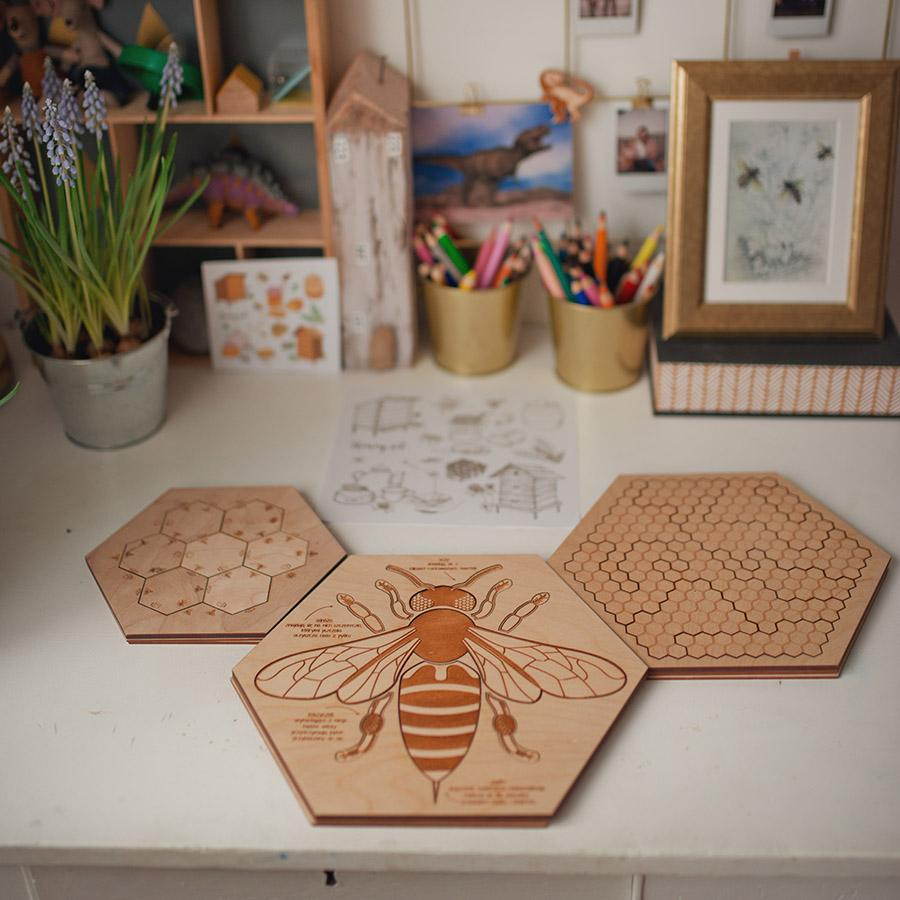 "Holzpuzzle ""Busy Bee"""