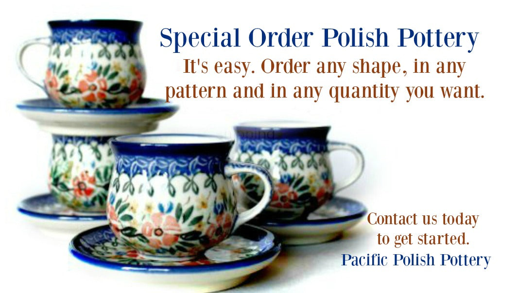 polish pottery special ordering
