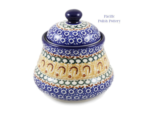 Kitchen Canister - Polish Pottery Pattern 217 - Pacific Polish Pottery  - 4