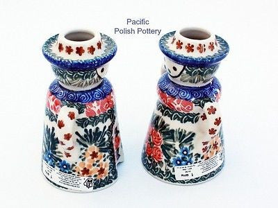 Unikat Candle Holder Set - Pattern u1652 - Pacific Polish Pottery  - 4