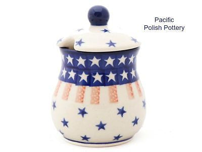 Sugar Spice or Honey Jar - Pacific Polish Pottery