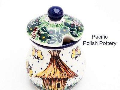 Unikat Sugar Spice or Honey Jar - Pacific Polish Pottery  - 2