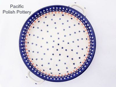 XL Round Baker with Handles - Pacific Polish Pottery  - 3