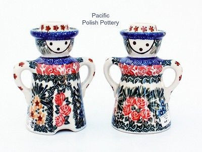 Unikat Candle Holder Set - Pattern u1652 - Pacific Polish Pottery  - 1
