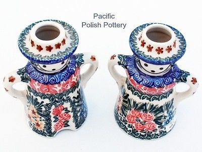 Unikat Candle Holder Set - Pattern u1652 - Pacific Polish Pottery  - 2
