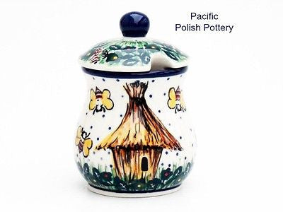 Unikat Sugar Spice or Honey Jar - Pacific Polish Pottery  - 1