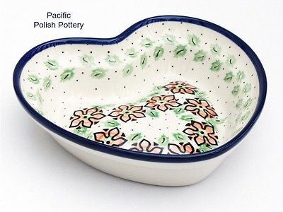 Heart Shaped Baker Bowl - Pacific Polish Pottery  - 1