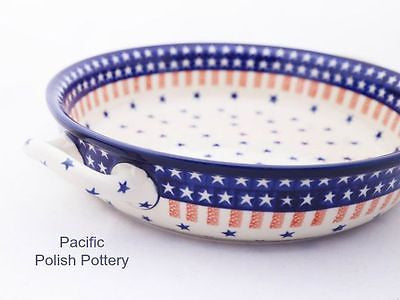 XL Round Baker with Handles - Pacific Polish Pottery  - 2
