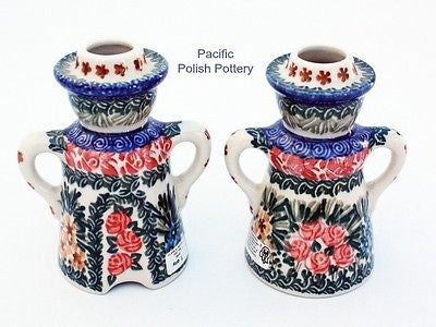 Unikat Candle Holder Set - Pattern u1652 - Pacific Polish Pottery  - 3
