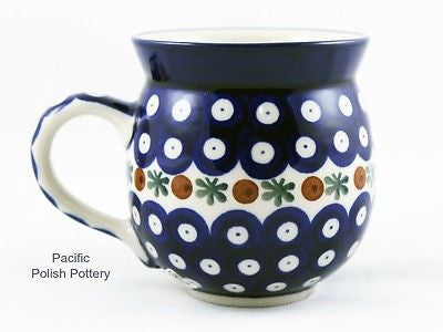 Polish Pottery 11oz Bubble Mug Pattern 70 - Pacific Polish Pottery  - 1