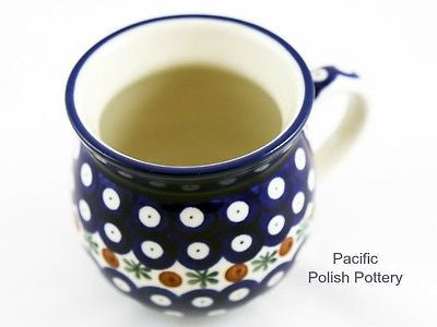 Polish Pottery 11oz Bubble Mug Pattern 70 - Pacific Polish Pottery  - 4