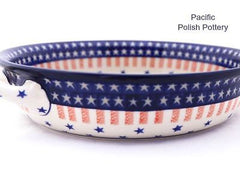 XL Round Baker with Handles - Pacific Polish Pottery  - 4