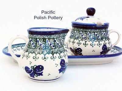 Unikat Cream and Sugar Set with Tray - Pacific Polish Pottery  - 3