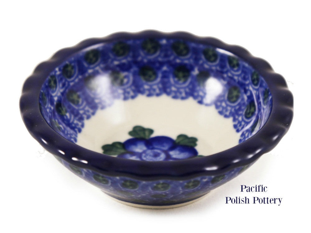 Tart Ruffled Ramekin Bowl - Pattern 163 - Pacific Polish Pottery  - 1