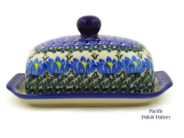 Butter Dish- Pattern 1231 - Pacific Polish Pottery  - 3