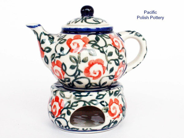Mini Unikat Teapot Set - Pattern u539 - Pacific Polish Pottery