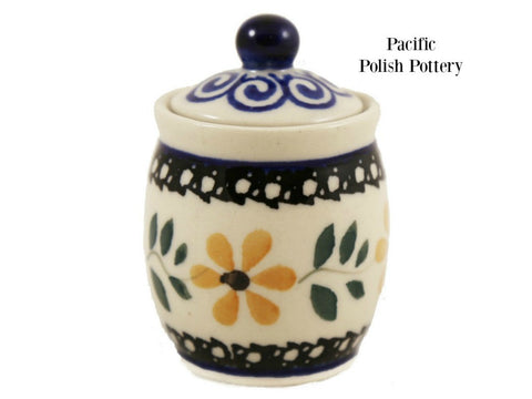 Mini Jar - Pattern 563 - Pacific Polish Pottery