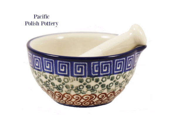 Mortar and Pestle - Pattern 50 - Pacific Polish Pottery