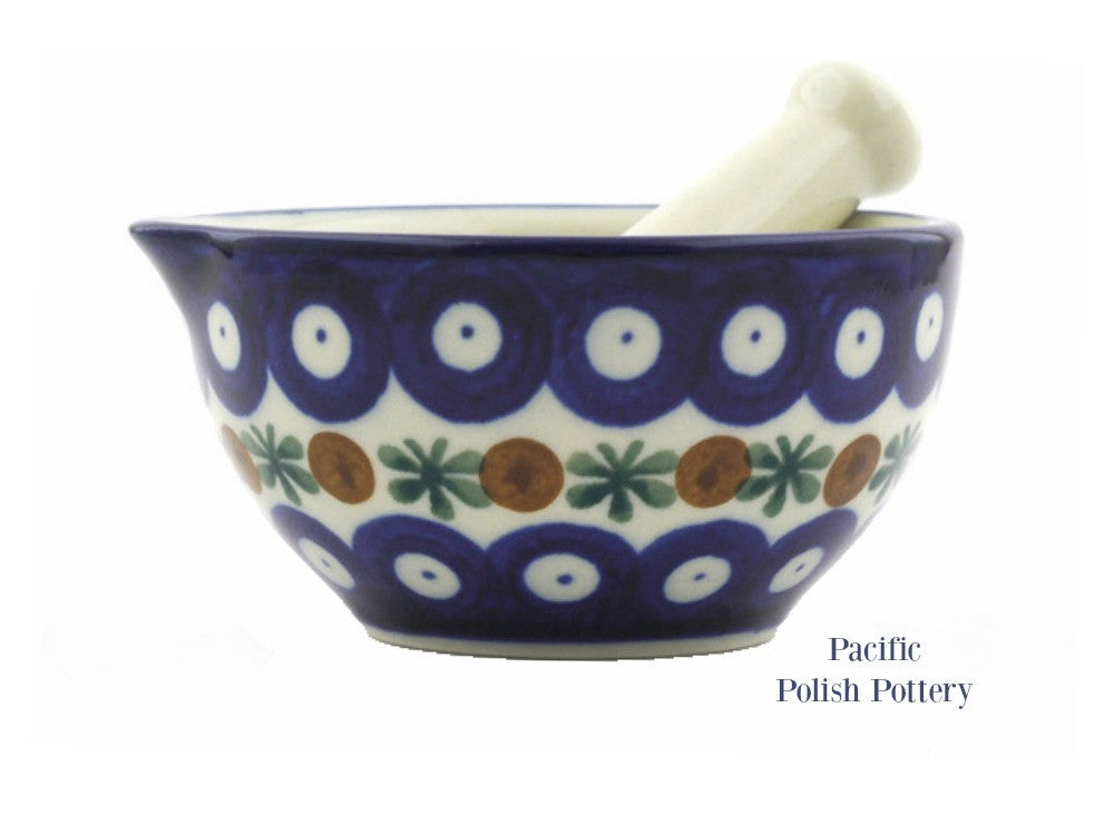 Mortar and Pestle- Polish Pottery Pattern 70 - Pacific Polish Pottery
