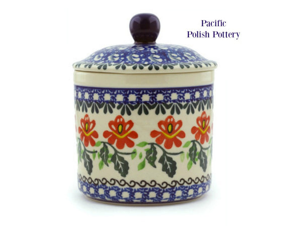 Kitchen Canister - Pattern 1308 - Pacific Polish Pottery  - 1