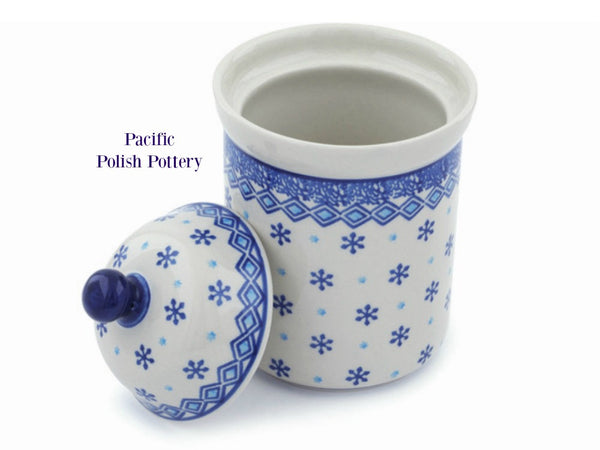 Kitchen Canister Jar Pattern 387 - Pacific Polish Pottery  - 2