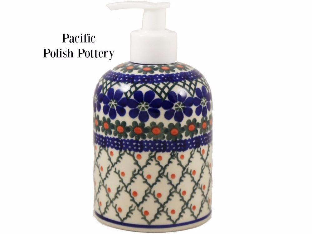 Soap or Lotion Dispenser - Pacific Polish Pottery  - 1