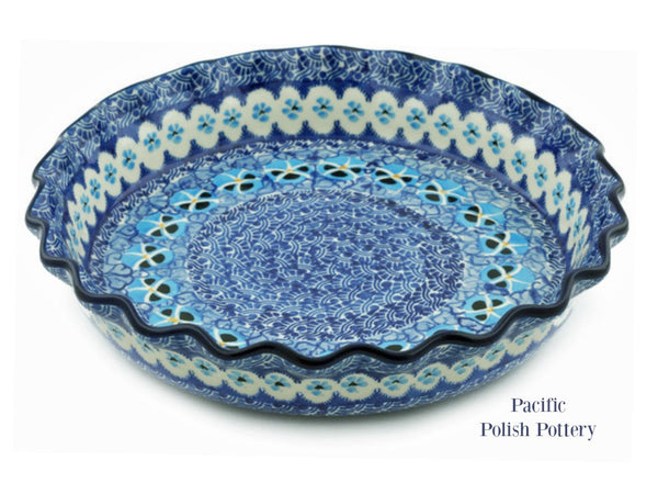 Unikat Ruffled Pie Baker Pattern u651 - Pacific Polish Pottery  - 1