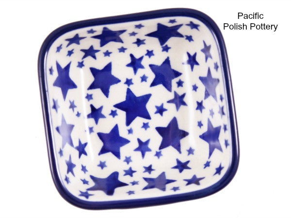 Square Ramekin Bowl - Pattern 359a - Pacific Polish Pottery  - 1