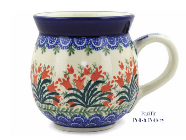 16oz Bubble Mug- Pattern 1437 - Pacific Polish Pottery