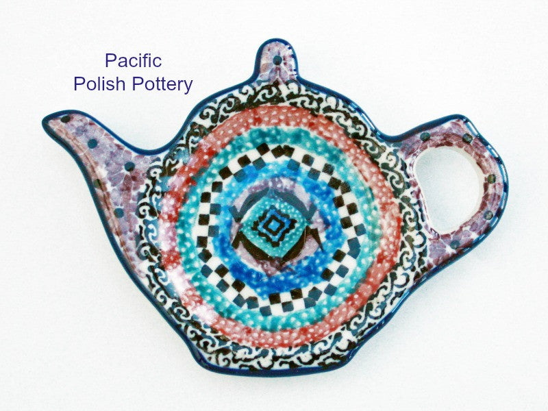 Unikat Teabag Spoon Rest - Pacific Polish Pottery